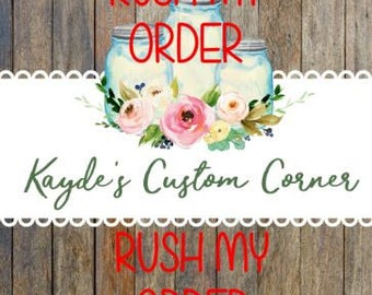 RUSH ORDER - Clothing and Acrylic Tumblers