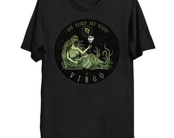 Lovecraftian Zodiac - Hastur Virgo Shirt, Star Sign Tee, Astrology Shirt, Cthulhu Mythos T-Shirt