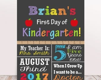 First Day of School Sign, First Day of Kindergarten, First Day of 1st Grade, 2nd Grade, Preschool, Back to School Sign, First Day Sign