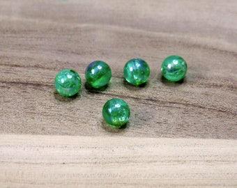 Perle verdi tonde irridescenti,materiale per creare,perle in plastica,decorazione bijoux.