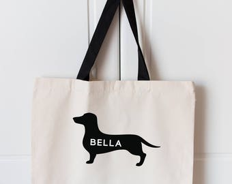 Sausage Dog Large Tote Bag | Personalised Dog Bag | Sausage Dog Bag | Large Dog Lover Bag | Large Dachshund Shopping Bag | Dog Tote Bag |