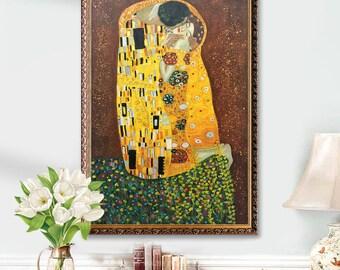 reproduction tableaux klimt etsy. Black Bedroom Furniture Sets. Home Design Ideas