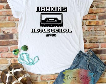 SOFT SHIRT, hawkins middle school av club tshirt, best selling items, in a world full of tens be an eleven, stranger things shirt