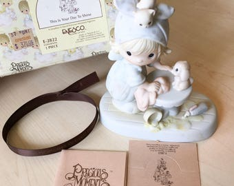 Vintage Precious Moments This Is Your Day To Shine Figurine E-2822