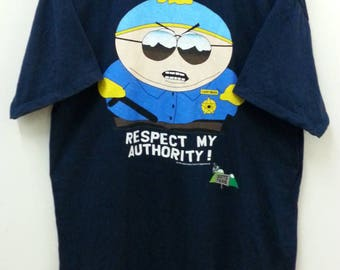Vintage SOUTH PARK//Cartman Respect my Authority//Size XL//Tultex Tag