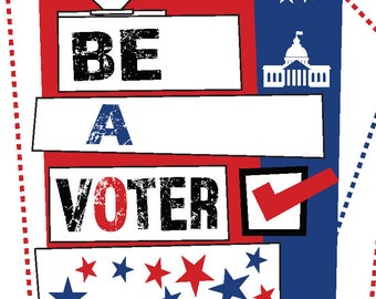 50 - Be A Voter Postcards