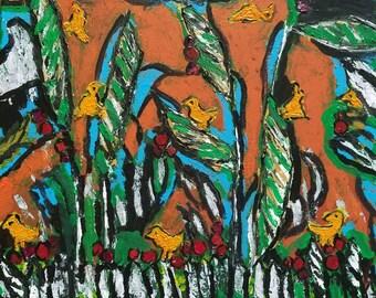 """ORIGINAL Art, """"Funny Birds"""""""