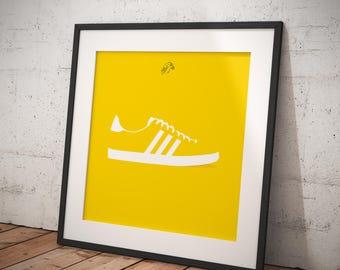 Adidas Gazelle OG Print Yellow