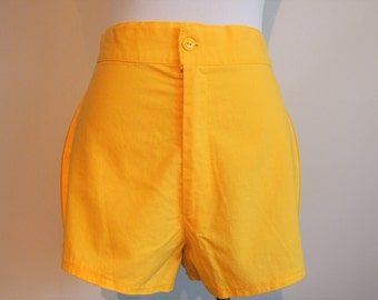 1960's Vintage High Waisted Shorts; Vintage Shorts; 60's Shorts