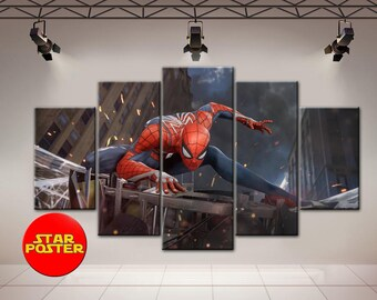 Spider-Man canvas, Spider-Man Homecoming, Spider-Man, Marvel home art, Spider-Man wall decor, Marvel art, Spider-Man poster, Marvel print