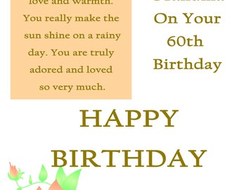 85th birthday gift 1933 birthday gift grandma birthday gift grandma 60 birthday card with remvable laminate bookmarktalkfo Image collections