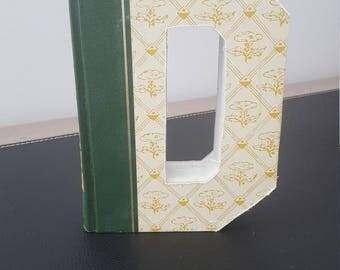 Vintage Hardcover Reader's Digest Book Letter - D