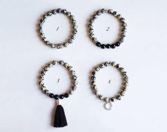 BALANCE COLLECTION - Mala bracelet of choice in Dalmatian Jasper.