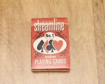 Vintage Streamline Poker Playing Cards Vintage Playing Cards