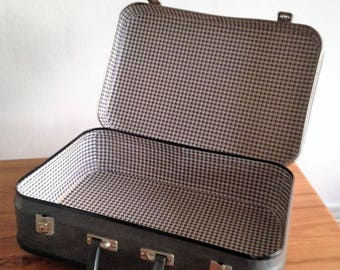 Cardboard - replaced - 1960's suitcase
