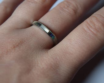 Blue and green ring