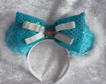 Disney Ears; Elsa Inspired Disney Mouse Ears; Arendelle; Frozen; Snow Queen