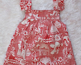 Papel picado, dia de los muertos, day of the dead, toddler dress, baby dress, Mexican dress, skull dress,toddler style
