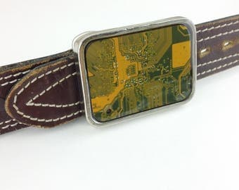 Circuit Board Belt Buckle Available in 5 Colors and 2 Shapes!