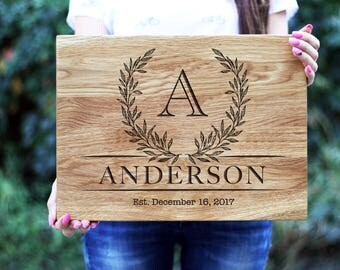 30 Years Married, Newlyweds Gifts, Gift for wife, Custom Cutting Board, Engraved Cutting Board, Christmas Gift, Anniversary gift for parents