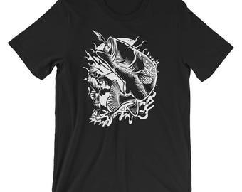 Fisherman and Bass Short-Sleeve Unisex T-Shirt