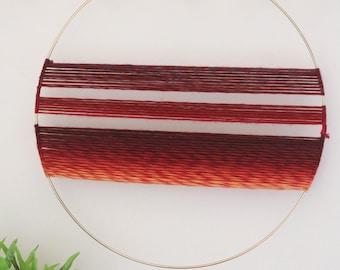 Yarn and Ring Wall Hanging
