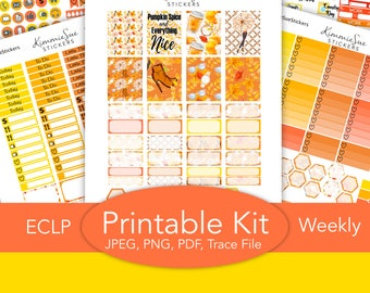 Printable Planner Stickers | EC vertical Weekly Kit | Erin Condren Planner | PDF JPEG Trace Files | Planner Printable | Stickers Printable
