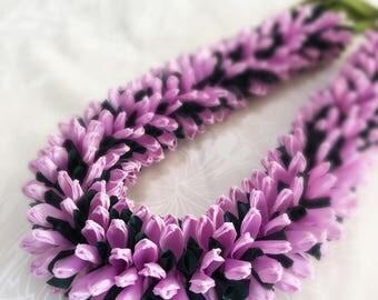 Hawaiian Ribbon Lei Chrysanthemum Lavender Valentine