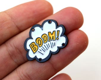 1 BOOM! Buttons 30mm 4 Holles