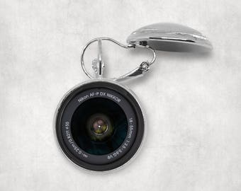 Nikon Camera Lens Earrings, Camera Lover, Camera Lens Jewelry, Vintage Camera Len, Photography Earrings, Old Retro Camera, Splendant Pendant