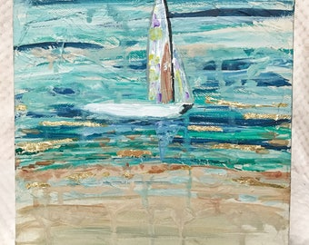 "8"" Set Sail' Acrylic on Canvas"