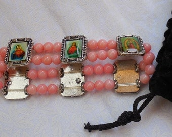 Coral's  bracelets with Icons.