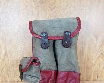 Bag - Military bag for the waist - Commander Bag - Vintage Military Canvas Soldier Officer Belt Purse.