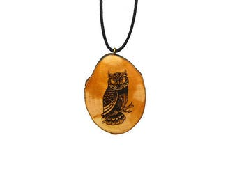 "Soul slices ""owl"" wood necklace, vintage * Ethno * hippie * MUST have * statement *"