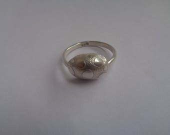 Sterling Silver Etched  Ring.Handcrafted Sterling Silver Designer Ring. Fair Trade Handmade Jewelry.