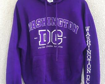 Vintage Washington DC clothing men women sweatshirt big logo spell out jumper size m
