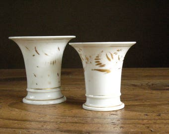 French Empire, two porcelain cups, 1820s