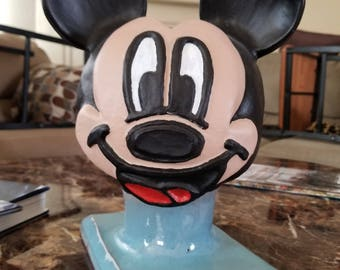 Mickey mouse ceramic sculpture