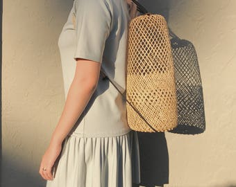Woven Back Pack - Rattan Bag | Ata Bag | Bohemian Bag | Bali Bag | Summer Bag | Straw Bag