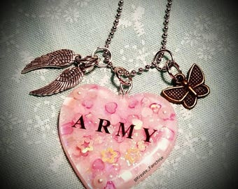 BTS ARMY Resin Necklace