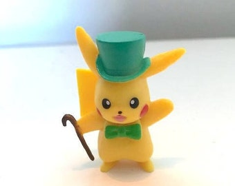 Miniature Pikachu with Top Hat and Cane