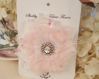 Shabby Tattered Fabric Flower - Rosie