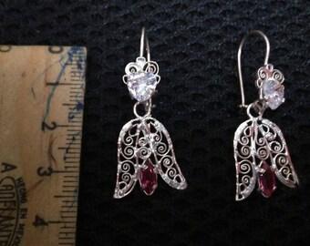 Oaxaca Small Sterling Silver Filigree Earrings