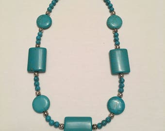 Shapely Turquoise Necklace