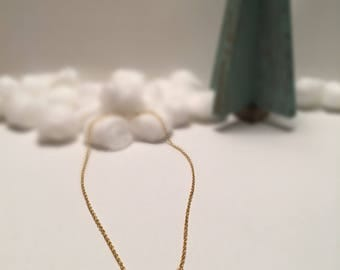 Gold Crescent Three-Tiered Necklace