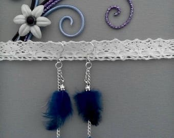 Royal blue country inspired earrings