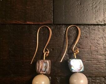 Abalone and Earthy earrings