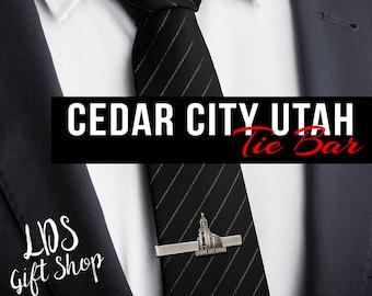 Cedar City Utah Silver or Gold Tie Bar