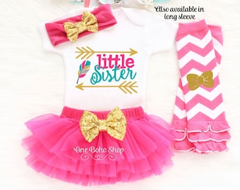 Little Sister Coming Home Outfit, Little Sister Big Sister Outfits, Little Sister Oufit, Little Sister Bodysuit, Little Sister Gift LS6HP