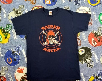 Vintage Raider Hater T Shirt Size Large Raiders